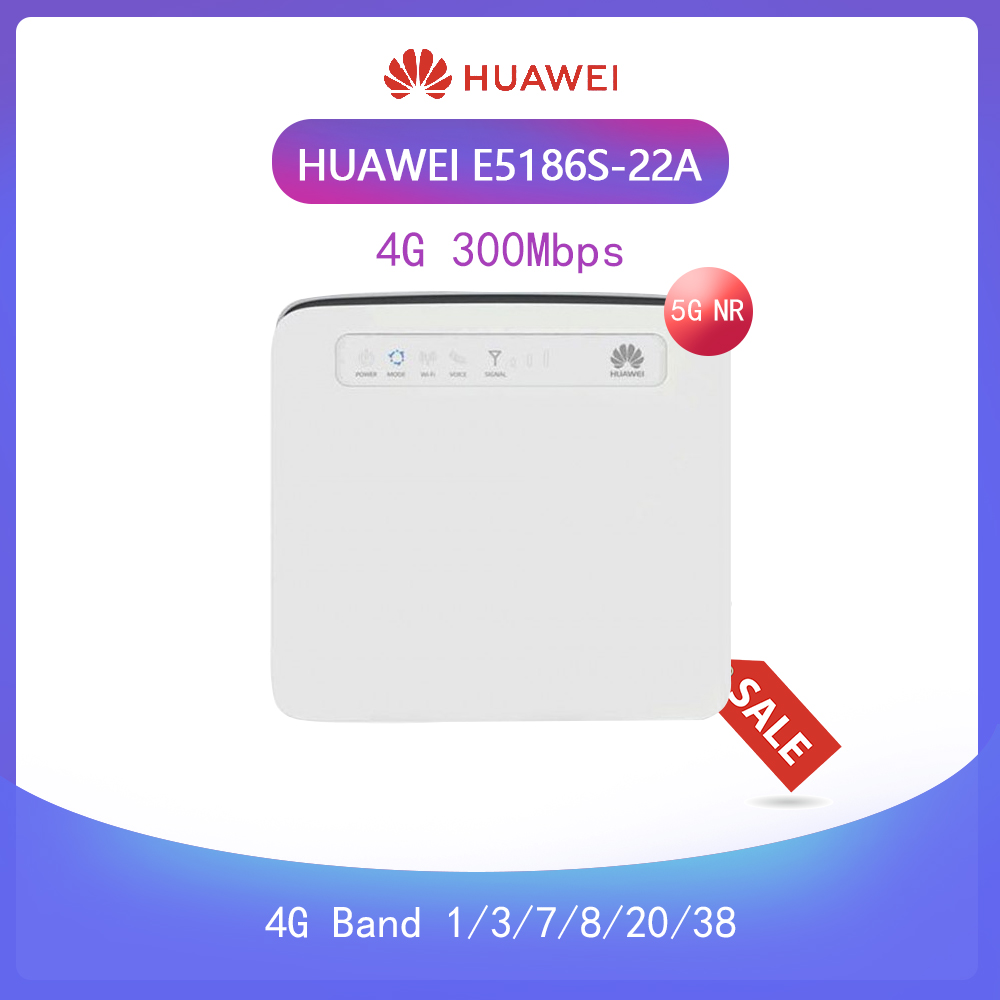 Unlocked Huawei E5186 E5186s-22 4G Wireless Router LTE FDD 800/900/1800/2100/2600Mhz TDD2600Mhz Cat6 300Mbps  Router+ Antenna