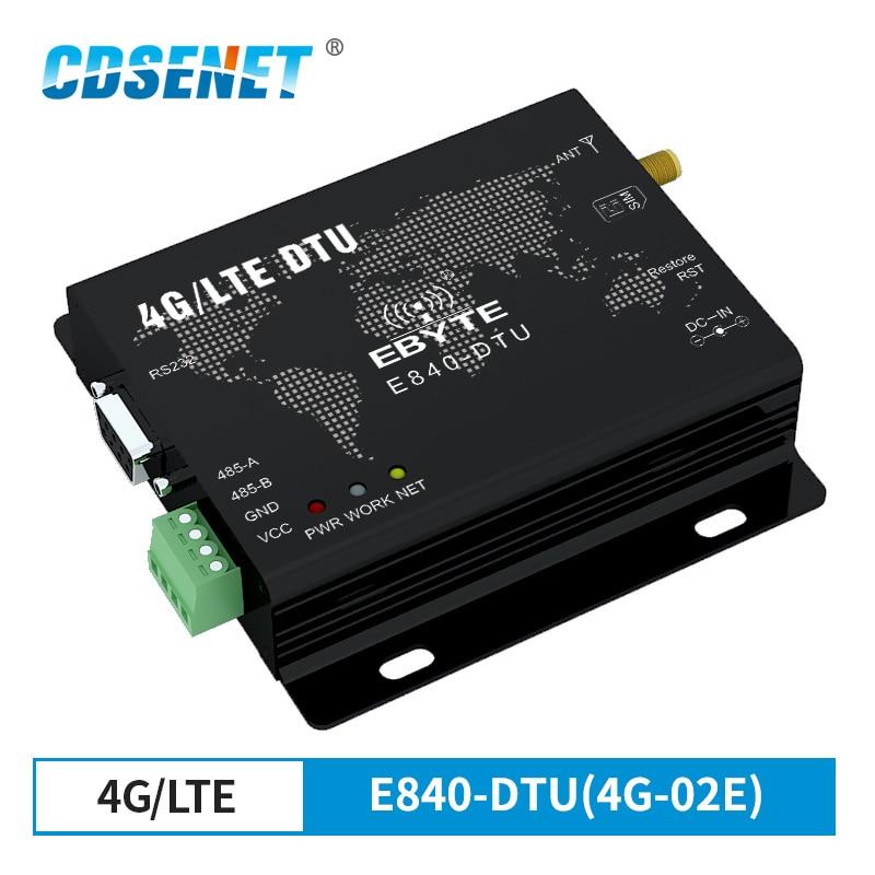 4G Module LTE RS232 RS485 Modbus RTU TCP E840-DTU(4G-02E) LTE-FDD WCDMA GSM Wireless Transparent Transceiver Modem