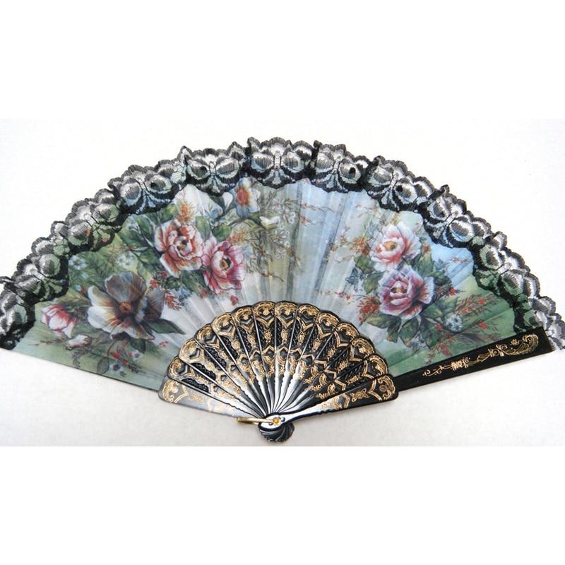 Spanish Style Hand Fan Decorative Design