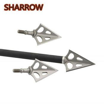6pcs Archery Broadheads Hunting Arrowheads Stainless Steel Screw-in Arrow Points For Bow And Arrows Hunting Shooting Accessories hunting broadheads 3 blade arrow heads arrows stainless steel tips 100 grain for archery shooting