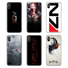 Phone Housing Case For Xiaomi Mi4 Mi5 Mi5S Mi6 Mi A1 A2 5X 6X 8 9 Lite SE Pro Mi Max Mix 2 3 2S Mass Effect N7 Armour Logo Print(China)