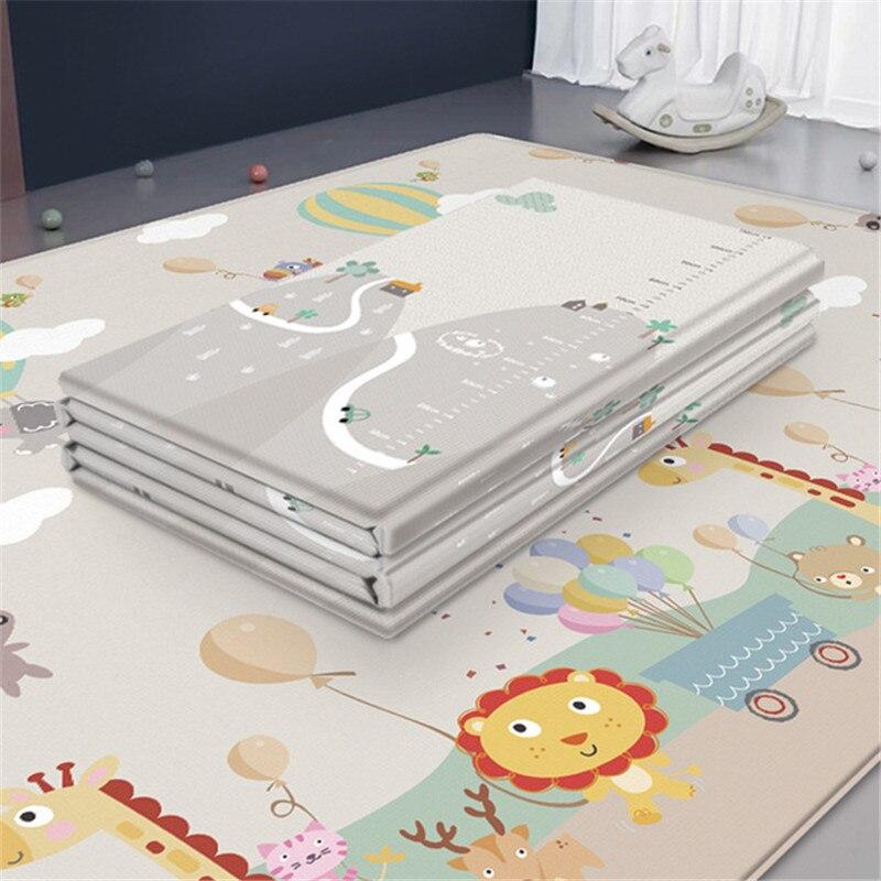 Bebê à prova dwaterproof água esteira do jogo do quarto do bebê decoração casa dobrável criança rastejando esteira dupla face crianças tapete de espuma jogo playmat
