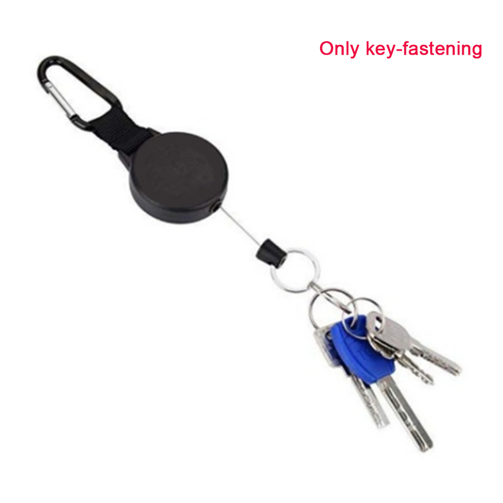 Camping Retractable Sports Multifunction Buckle Hanging Outdoor Portable Hiking High Elasticity Carabiner Key Chain Climbing
