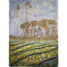 Postimpressionism Trees Landscape Art Oil Painting on Canvas Handpaint