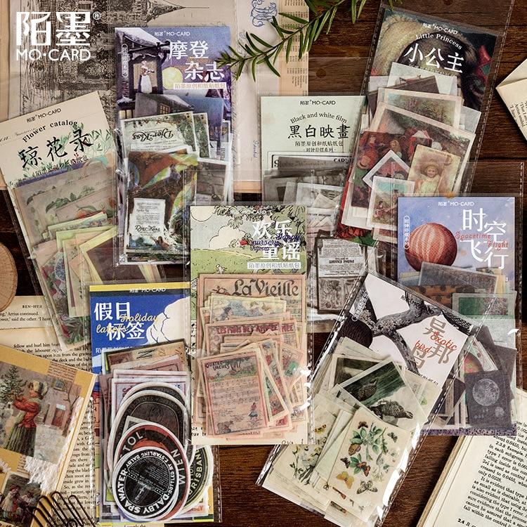 60 Pcs Spacetime Flight Vintage Sticker Decoration Sticker Flakes Scrapbooking Album Diary School Supplies