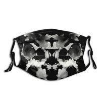 Mascarilla de protección facial Unisex, máscara antipolvo respirador con filtros, antihumo, Watchmen King Rorschach