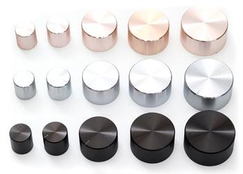 Aluminium potencjometr z tworzywa sztucznego gałka 17*17 19*17 26*17 30*17 34*17 40*19 48*22*6mm śliwka uchwyt podwozia głośności cap wzmacniacz gałki tanie i dobre opinie Aluminum plastic