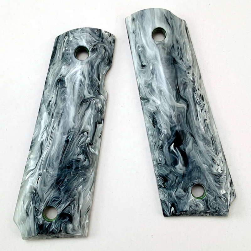2Pieces Tactics Pistol 1911 Grips Marbling Acrylic Grips Patch Custom Grips CNC Material 1911 Accessories