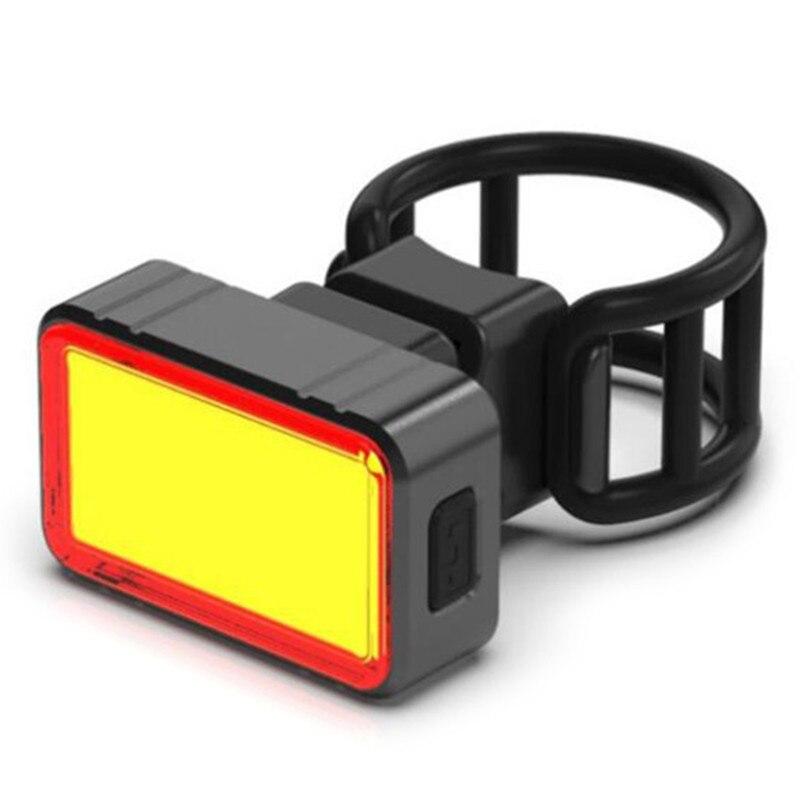 Купить с кэшбэком 100LM Waterproof USB Rechargeable Intelligent Induction Brake Bicycle Taillight Rear COB+28 LED Bike Night Riding light