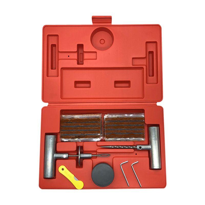 36 шт. набор инструментов для ремонта автомобиля набор для ремонта автомобильных шин Т образные запасные штифты прокладки шин вакуумная коробка для ремонта бескамерных шин комплект для ремонта проколов