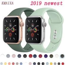 Ремешок для apple watch 5 4 ремешок 44 мм iwatch ремешок 42 мм correa 38 мм 40 мм спортивный силиконовый браслет ремешок для часов 4 3 2