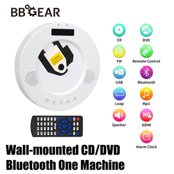 Portable DVD Player Wall Mount Desktop Stand Holder Bluetooth HiFi Speaker USB HDMI TV Projector CD Player with Remote Control