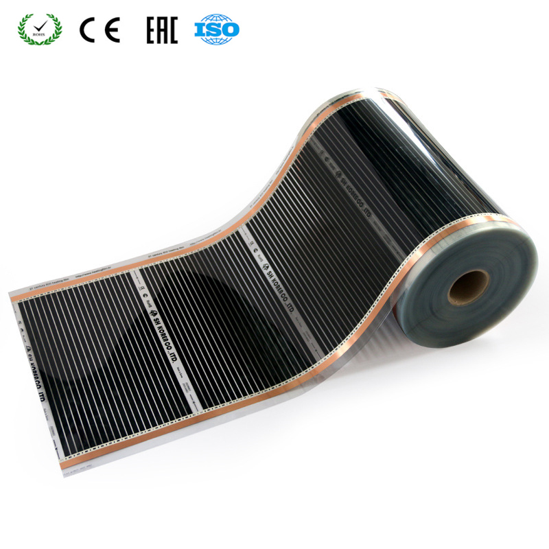 220V 50cm Width Healthy Floor Heating Infrared Underfloor Heating Carbon Film Heater Electric Carbon Crystal Fiber Heating Film