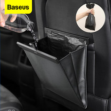 Baseus-sac de rangement pour voiture, sac de rangement magnétique pour siège arrière, accessoires de voiture porte-poche, poubelle de voiture