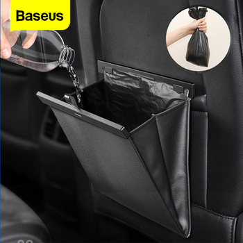 Baseus Car Organizer Backseat Storage Bag Magnetic Auto Pocket Holder Car Accessories Car Trash Bin Garbage Can Dustbin Car Bag papelera kosz na smieci garbage de bag holder reciclaje commercial hotel lixeira cubo basura recycle bin dustbin trash can