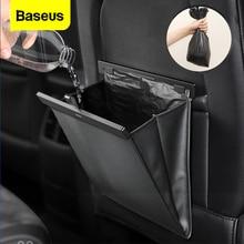 Baseus سيارة المنظم المقعد الخلفي حقيبة التخزين المغناطيسي السيارات جيب حامل اكسسوارات السيارات سيارة علبة مهملات سلة النفايات مزبلة سيارة حقيبة