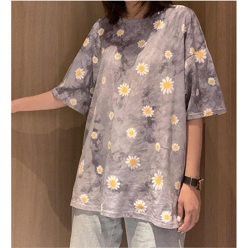 Tie-Dyeผู้ชายผู้หญิงเสื้อยืดเสื้อHarajukuขนาดใหญ่คนรักเสื้อยืดสำหรับเสื้อผ้าสตรี 2020 ฤดูร้อนความงามTshirt Topsผู้ชายผู้หญิง