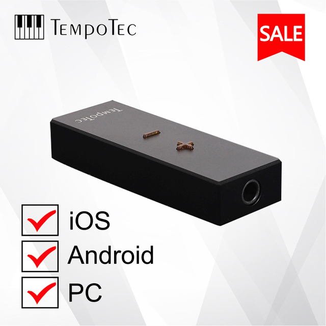 TempoTec SONATA HD PRO C tipi 3.5MM DSD256 Android ve iPhone için kulaklık amplifikatör adaptörü DAC