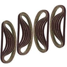 Шлифовальные ленты 330x10 мм, 25 шт., абразивные шлифовальные ленты 60 80 100 120, зернистость, упаковка, аксессуары