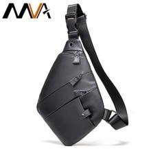 MVA Fashion Chest Bag For Men Leather Crossbody Sling