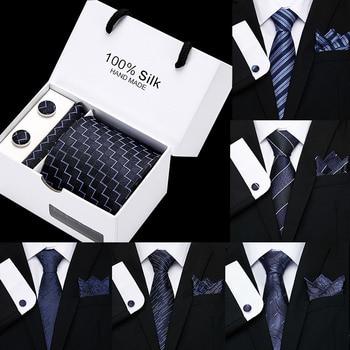 Luxury 8cm 100%Silk Polyester Jacquard Necktie for Men Lattice Striped Dot Floral Necktie Formal Dress Wedding Mens Classic Ties