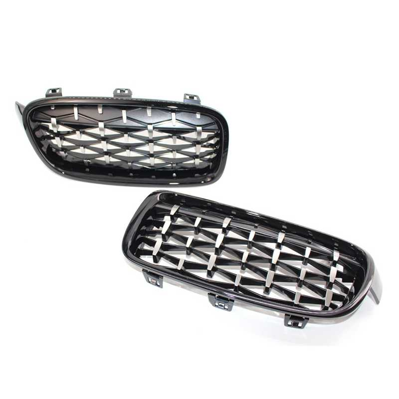 1 Pair Glossy Mesh Grille Grill Compatible with for Bmw F30 F31 320I 328I 335I 4-Door 2012-2018