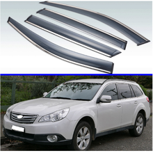 For Subaru Outback 2009-2014 Plastic Exterior Visor Vent Shades Window Sun Rain Guard Deflector 4pcs 2010 2011 2012 2013(China)