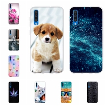 For Samsung Galaxy A50 Case Soft TPU Silicone SM-A505F Cover Animal Patterned Capa