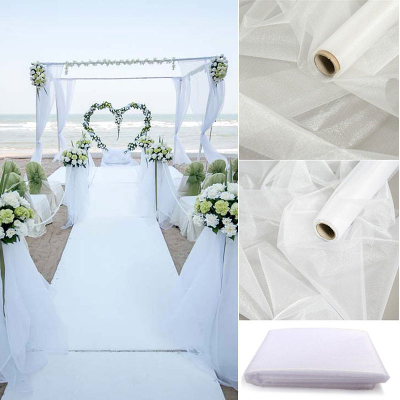 Рулон тюлевой ленты из органзы, 10 м, 48/72 см, фатиновая юбка для стола, вечерние юбки для дня рождения, украшения для свадьбы