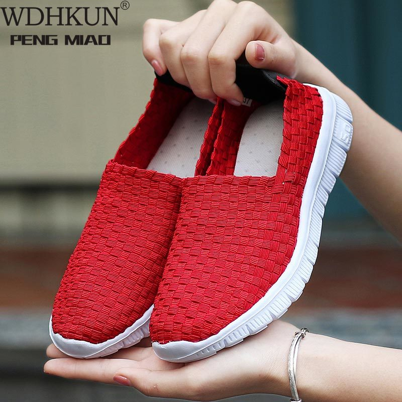 2020 Autumn Sneakers Women Flats Shoes Comfortable Casual Sock Shoes Woman Slip-on Ballerina Flats Shoes Zapatillas Mujer