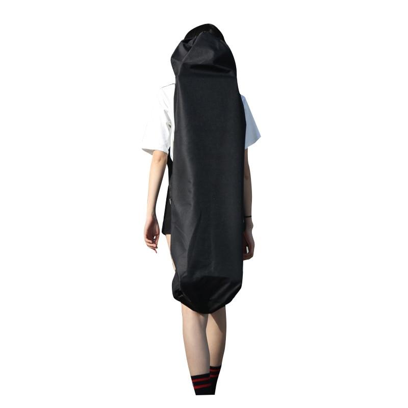 110Cm Long Skateboard Bag Oxford Cloth Skateboard Bag 43 Inch Skateboard Carrying Case Shoulder Travel Longboard Backpack Four W