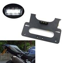 Kit déliminateur de garde boue arrière pour Suzuki GSXR1000 GSX R, 1000, 2005, 2006, 2007, K5, K7, support de plaque dimmatriculation noir