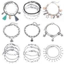 Summer Starfish Pendant Anklets 2019 For Women Stone Beads Sea Shell Anklet Bohemian Bracelets On Leg Boho Ocean Beach Jewelry