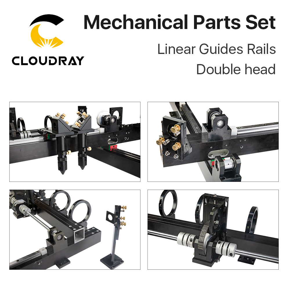 Image 3 - Cloudray Mechanical Parts Set 1300mm*900mm Single Double Head Laser Kits Spare Parts for DIY CO2 Laser 1390 CO2 Laser Machineparts machineparts forparts kit -