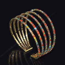 2021hot nova moda simples ajustável cristal manguito abertura pulseira para mulheres jóias presente menina strass mujer pulseras