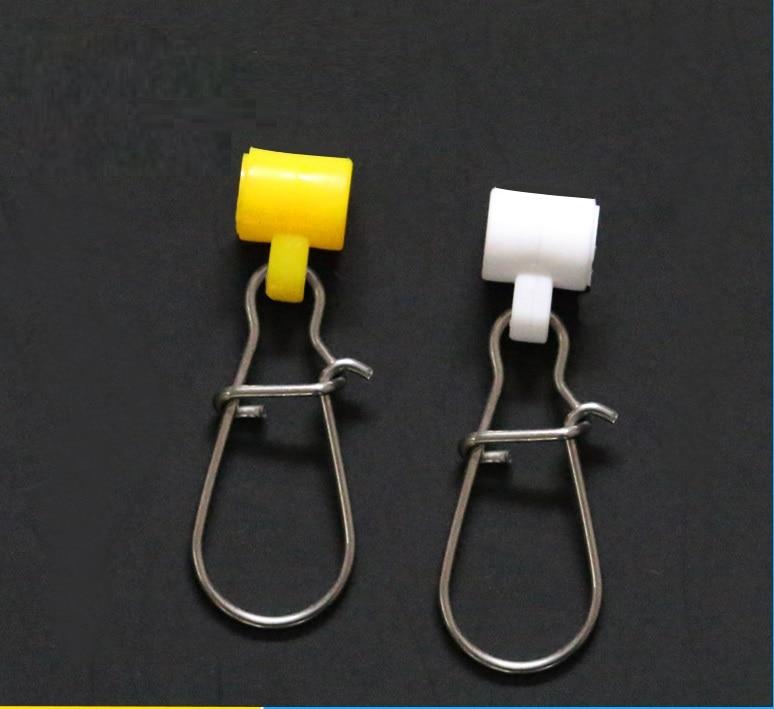 10pcs Plastic Head Swivel +Reinforced Pin Hooked Snap Interlock Sinker Slider High-strength Zip Slider Fishing Line Connector