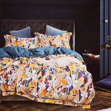 4pcs Bedding Set European Egyptian cotton bed linen Soft Satin bedding floral pastoral duvet cover pillowcases bedspreads(China)