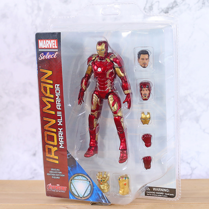 HOT Marvel Select Mark XLIII Armor Iron Man MK43 PVC 7in Action Figure with box