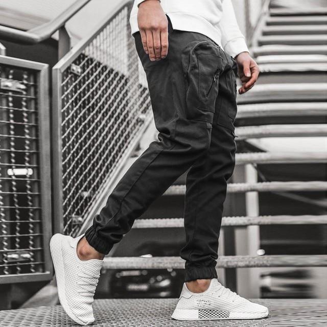 Streetwear Hip hop Joggers Pants Men Loose Harem Pants Ankle Length Trousers Sport Casual Sweatpants White Techwear  1.13 2