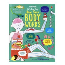 Lift the Flap How Your Body Works 3D Flap Picture Books Space Children Enlightenment English Cardboard Book(China)