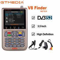 GTMEDIA V8 Finder Satellite Finder DVB-S2 Digital HD Definition Sat Finder DVB S2 HD 1080P Satellite Meter Satfinder freesat