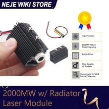 NEJE Módulo de tubo de cabeza láser de 2000mW, accesorio de máquina de grabado láser, piezas de repuesto para grabador NEJE DK 8 KZ / DK 8 FKZ