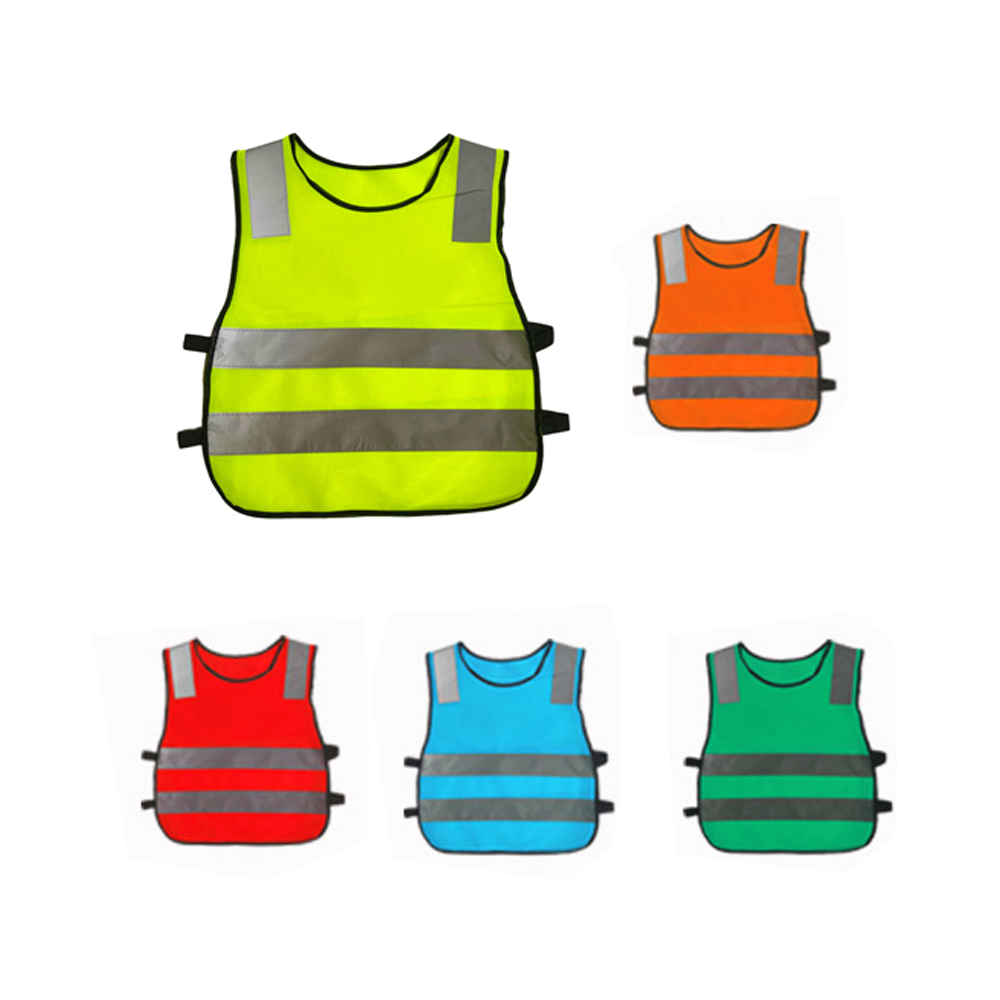 Kids Reflective Vest Yellow Fluorescent Safety Vest High Visibility Clothing For Children Safe Traffic Student Security Clothes