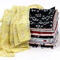 2021 mode schal frauen gedruckt chiffon hijab schal soft floral muslimischen Kopftuch hijab kopf schal wraps Dame turban