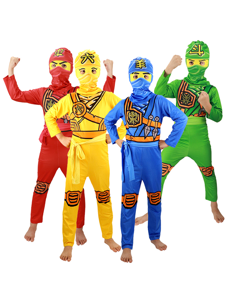 Ninjago Costume Jumpsuit Party-Dress Superhero Fancy Carnival Kids Children for Cosplay