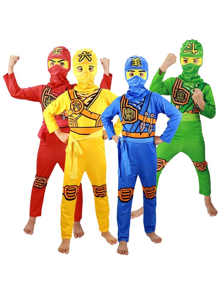 Ninjago Costume Jumpsuit Party-Dress Superhero Fancy Carnival Kids Children for Cosplay