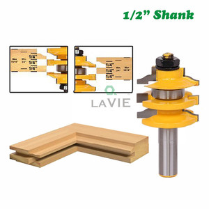 """12mm 1pc 1/2"""" Shank Milling Cutter Woodwork Rail Stile Ogee Router Bit Stacked Cutting Tenon Tools Woodworking MC03108