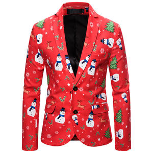 Litthing Christmas-Suit Coat Jacket Celebrating Slim-Fit Fashion Newest with And Pant