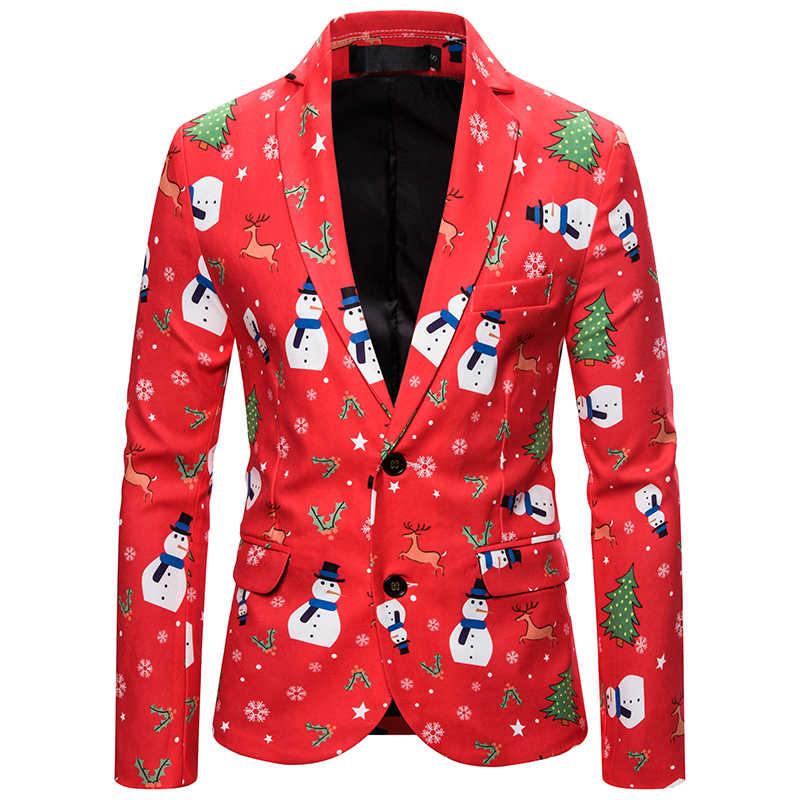 Litthing nuevo traje de Navidad para hombre, abrigo de moda