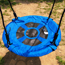 60CM 23inch Outdoor Kids Playground Swing Set Saucer Rotate Tree Nest Swing 900D 600lbs Flying Rope Round Swing